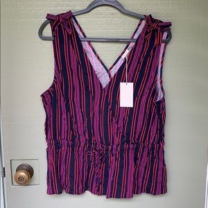NWT- A NEW DAY- cute tank with bows size XXL